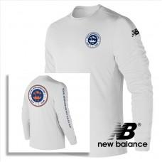 New Balance® performance Men's  Long-Sleeve T Shirt - White