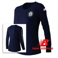 New Balance® performance Women's  Long-Sleeve T Shirt - Pigment (Navy)