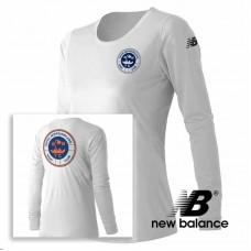 New Balance® performance Women's  Long-Sleeve T Shirt - White